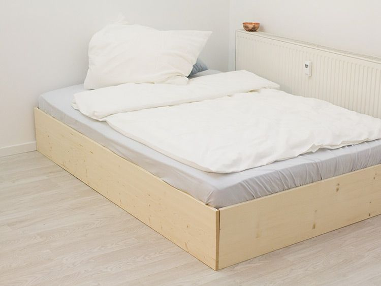 diy anleitung bett im skandinavisch schlichten stil bauen via h o m e. Black Bedroom Furniture Sets. Home Design Ideas