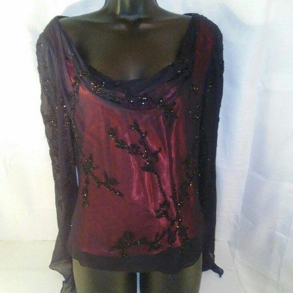 Fancy Beading N Lace. 100 Percent Silk. 22 Length. 17