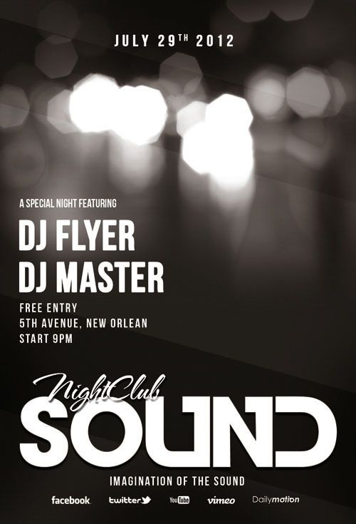 Sound Flyer/Poster PSD Template | Posters | Pinterest