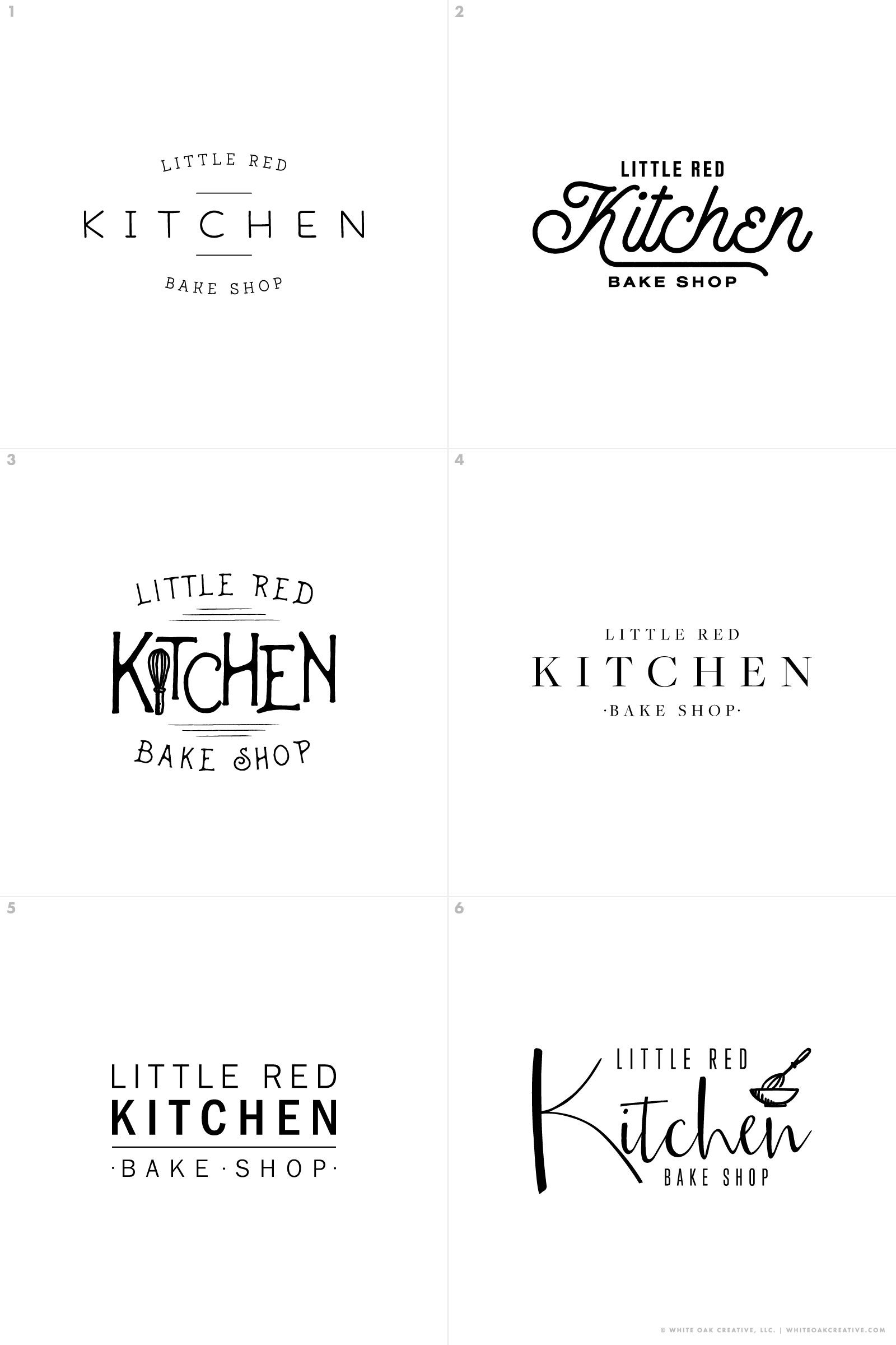 Little Red Kitchen Bake Shop Restaurant logo design