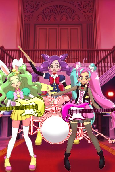 Girl Band in process by lollieDolly ~ Glitter Force