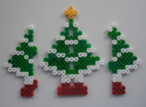 The Wings Of The 3d Tree Hama Beads Christmas Hama Beads Patterns Christmas Perler Beads