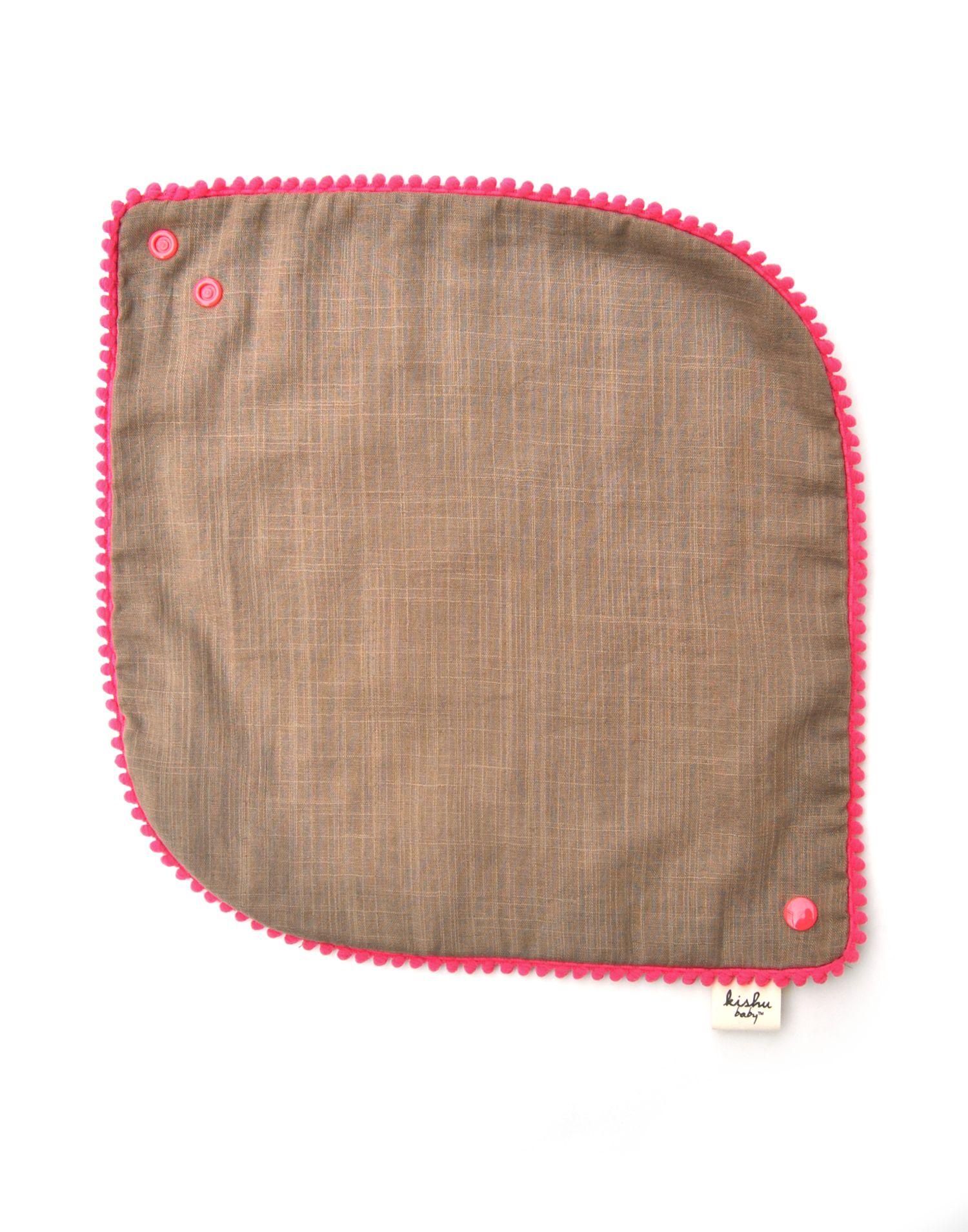 Pom Pom Bib Gift Set | 2-pk | Baby Girl Bibs | Blue + Khaki #bibsforbaby