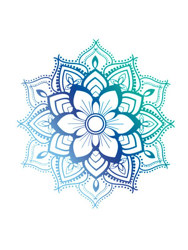 Blue Mandala Sticker By Adjsr Mandala Buddhists And Universe