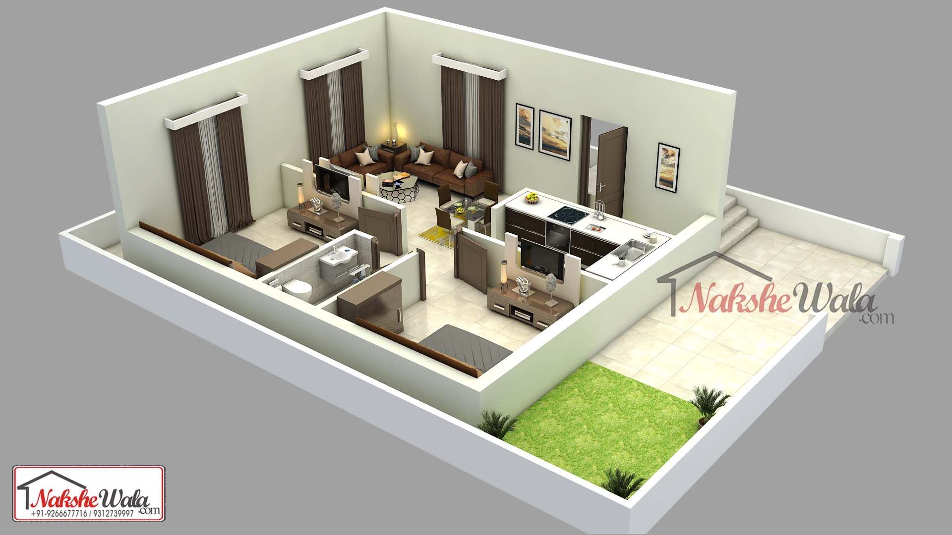 Latest 3d Floor Plan Layout With Furniture Placement Floor Plan Design House Floor Plans Indian Home Design