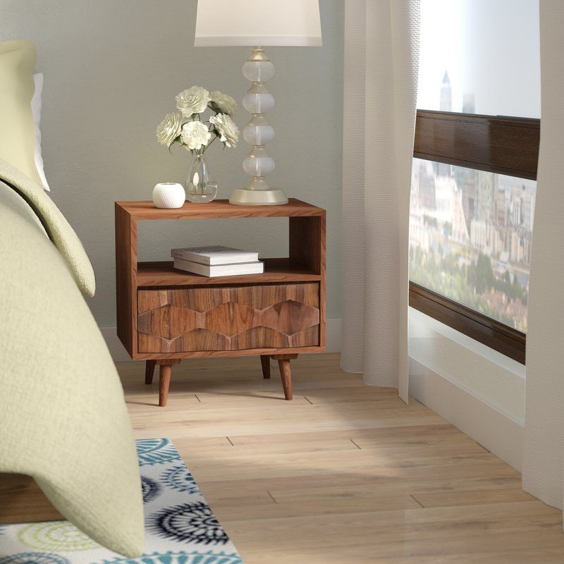 Best Deepwell 1 Drawer Nightstand Modern Nightstand Bedroom 400 x 300