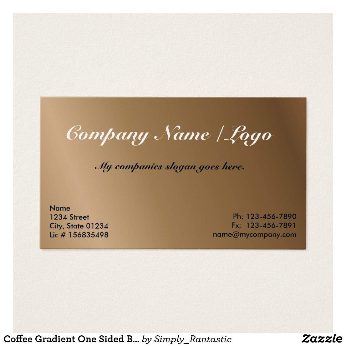 Coffee gradient one sided business card template card templates coffee gradient one sided business card template colourmoves