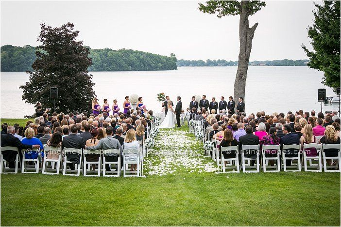 Awesome Outdoor Ceremony Right By The Water At Orchard Lake Country Club Wedding Beautiful