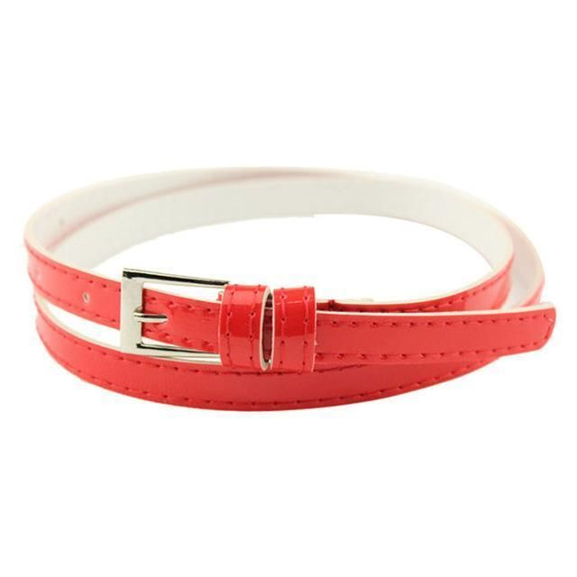 9a7e1c5fa Hot Beautiful Belt for Women Small Candy Color Thin Leather Ladies  Beltdresskily