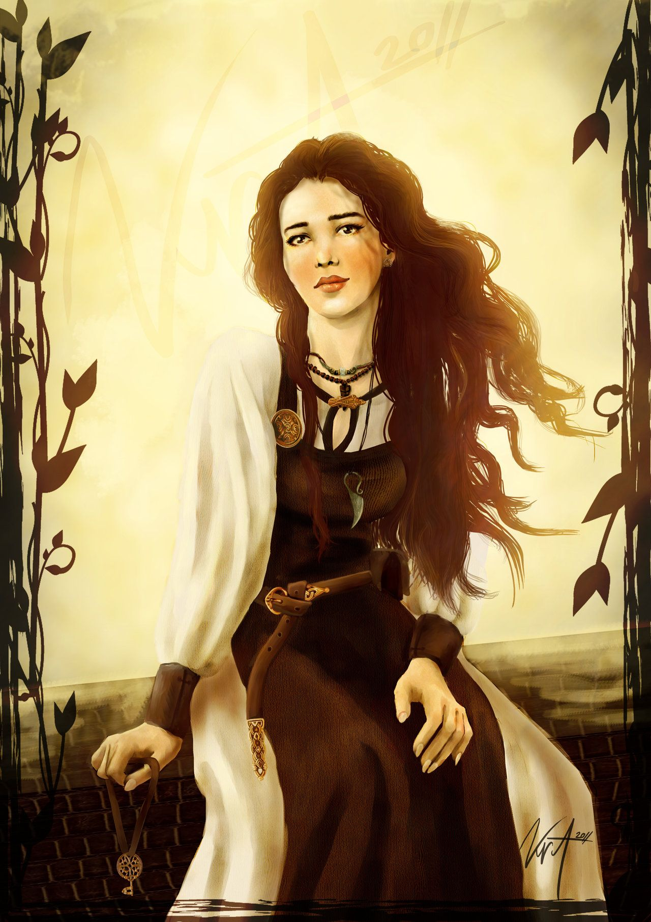 Viking Girl  http://lady-kira-night.deviantart.com/art/Viking-Girl-259319403?q=boost:popular%20digital%20girl&qo=162