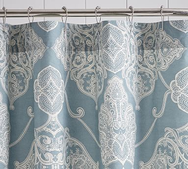 Alana Medallion Shower Curtain Potterybarn