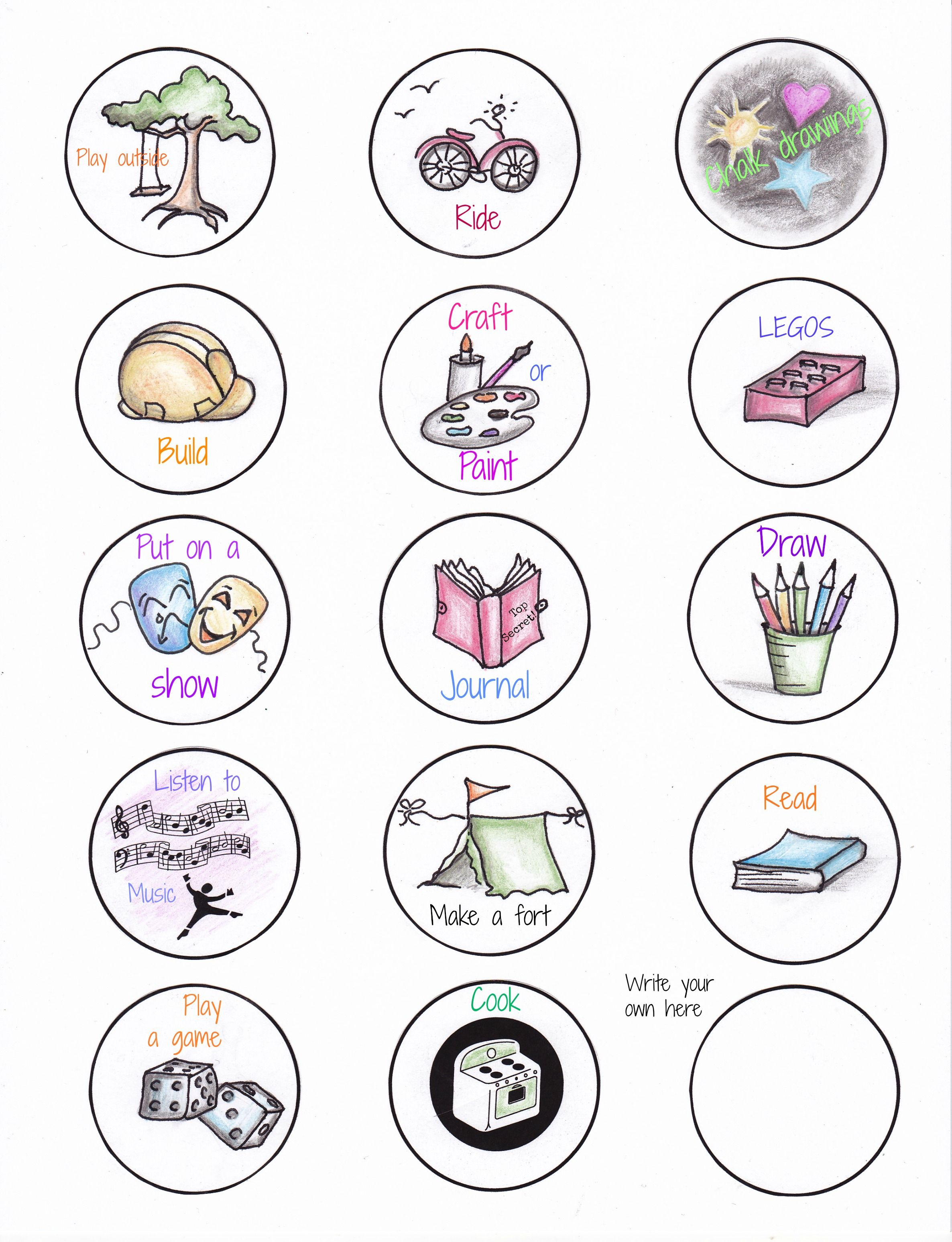 Daily Routine Clipart Free