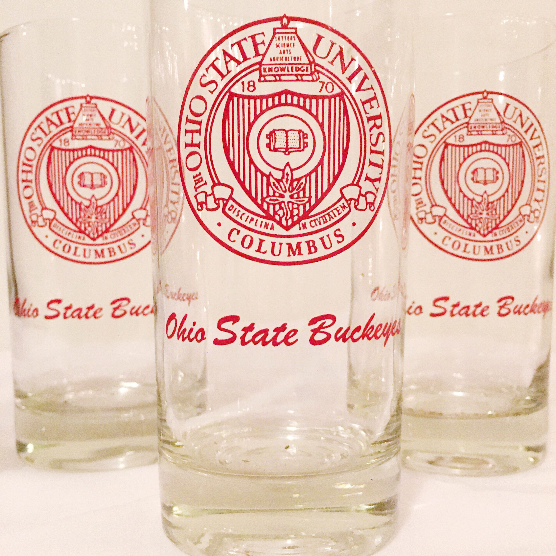 VINTAGE | Ohio State Buckeyes beverage glasses