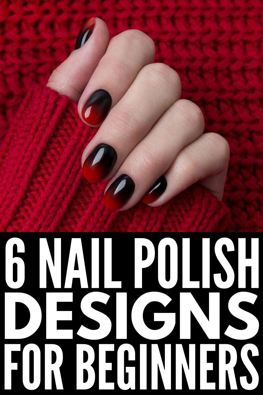 6 easy stepbystep nail art design tutorials for