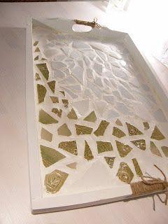 DIY mosaic tray