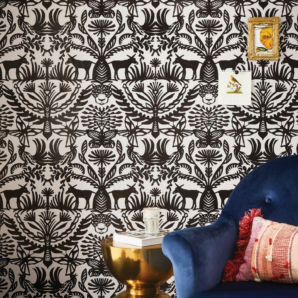 Eulalia Peel & Stick Removable Wallpaper Stucco/Black