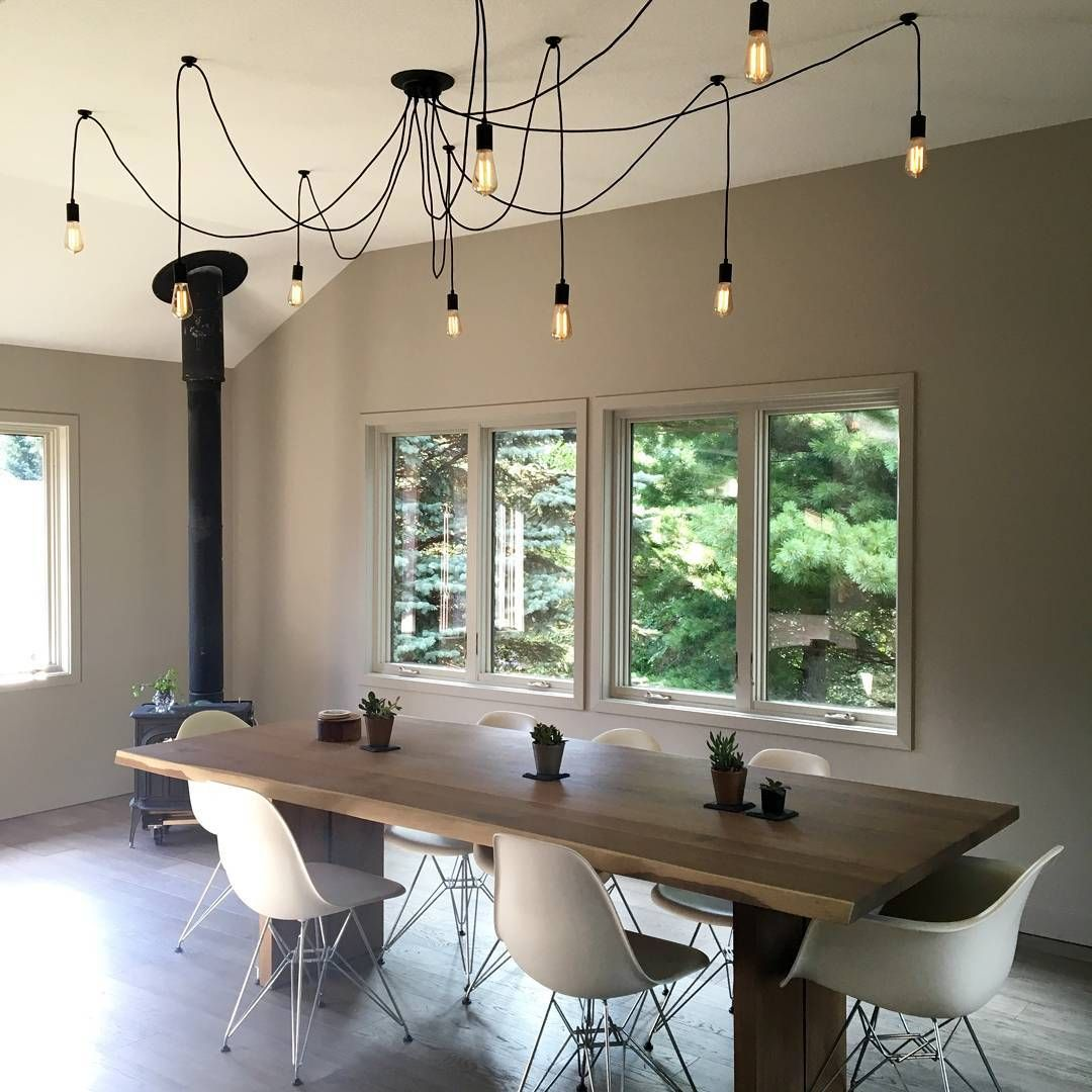 Hanging Light Above Dining Table: Wood Burning, Stove And Woods