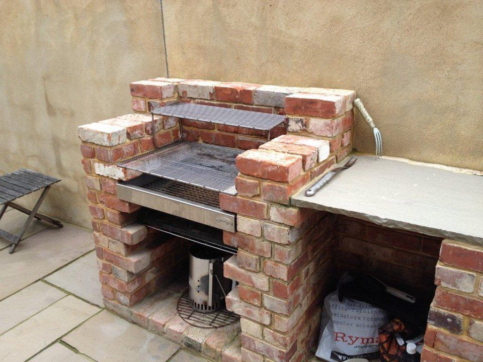 Built in brick bbq kit stainless steel grill will not for Brick kit homes