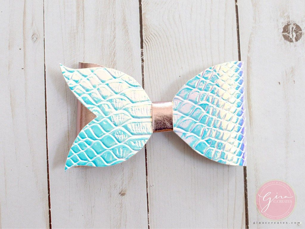mermaid tail bow tutorial free template Free paper