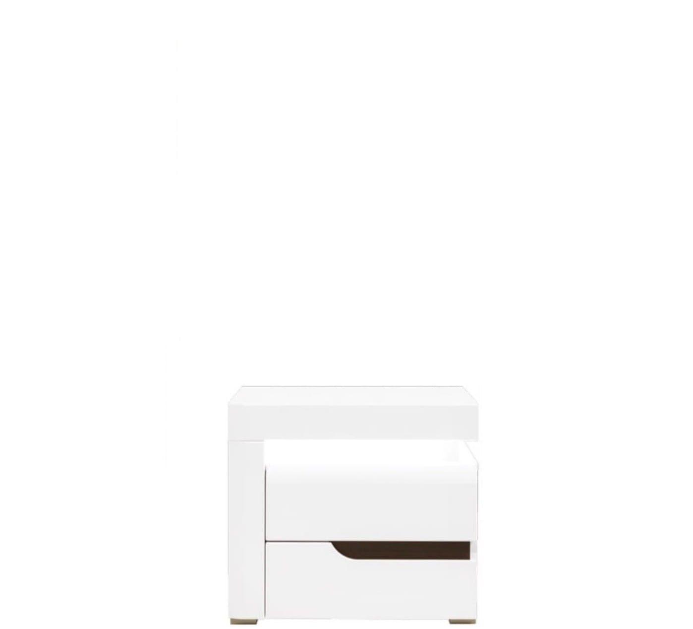 Left Bedside Table Irma Im17 White Gloss Bogfran