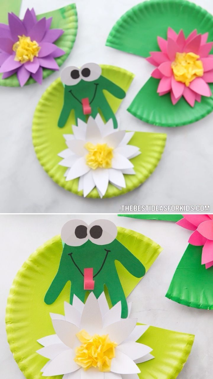 Frog Craft -  FROG HANDPRINT CRAFT 🐸- such a cute craft for Spring! An easy spring craft for kids that prescho - #animecharacters #animeeyes #animefunny #animeromance #animetumblr #Craft #foodideas #Frog #ideasforboyfriend #ideasposter #projectideas