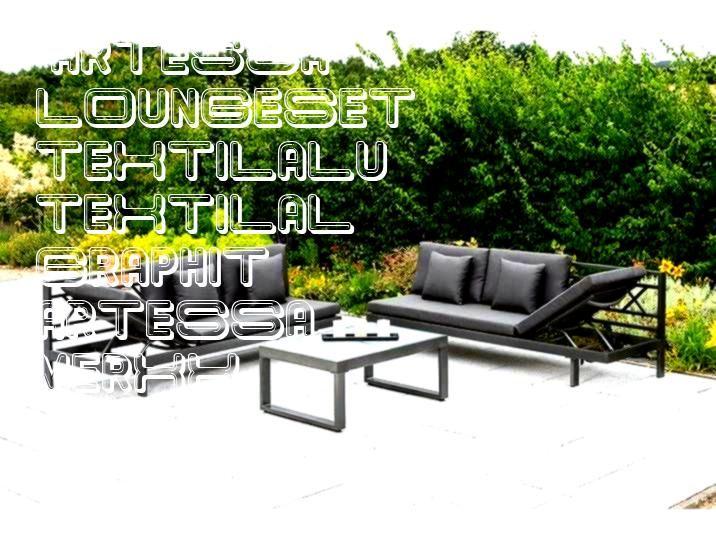 Loungeset Artessa 13tlg 2 Sofas Tisch 90x65 cm TextilAl MERXX Loungeset Artessa 13tlg 2 Sofas Tisch 9065 cm TextilAlu grau graphit MERXX Loungeset Artessa 13tlg 2 Sofas T...