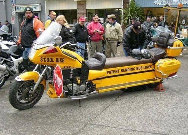School Bus Motorcycle With Images Motorcycle Cool Bikes Bike