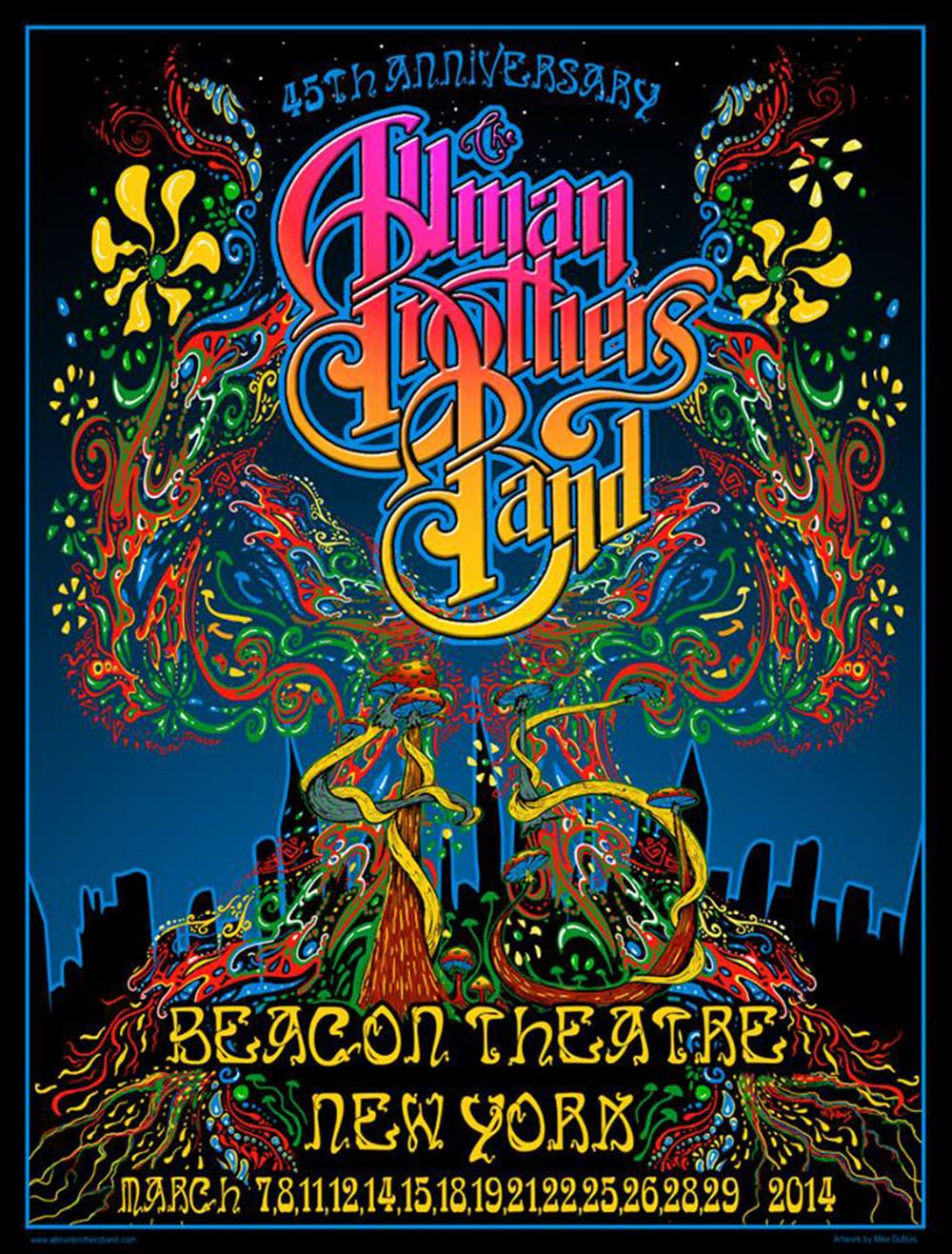 The Allman Brothers The Beacon Theater Nyc 3 15 14 And