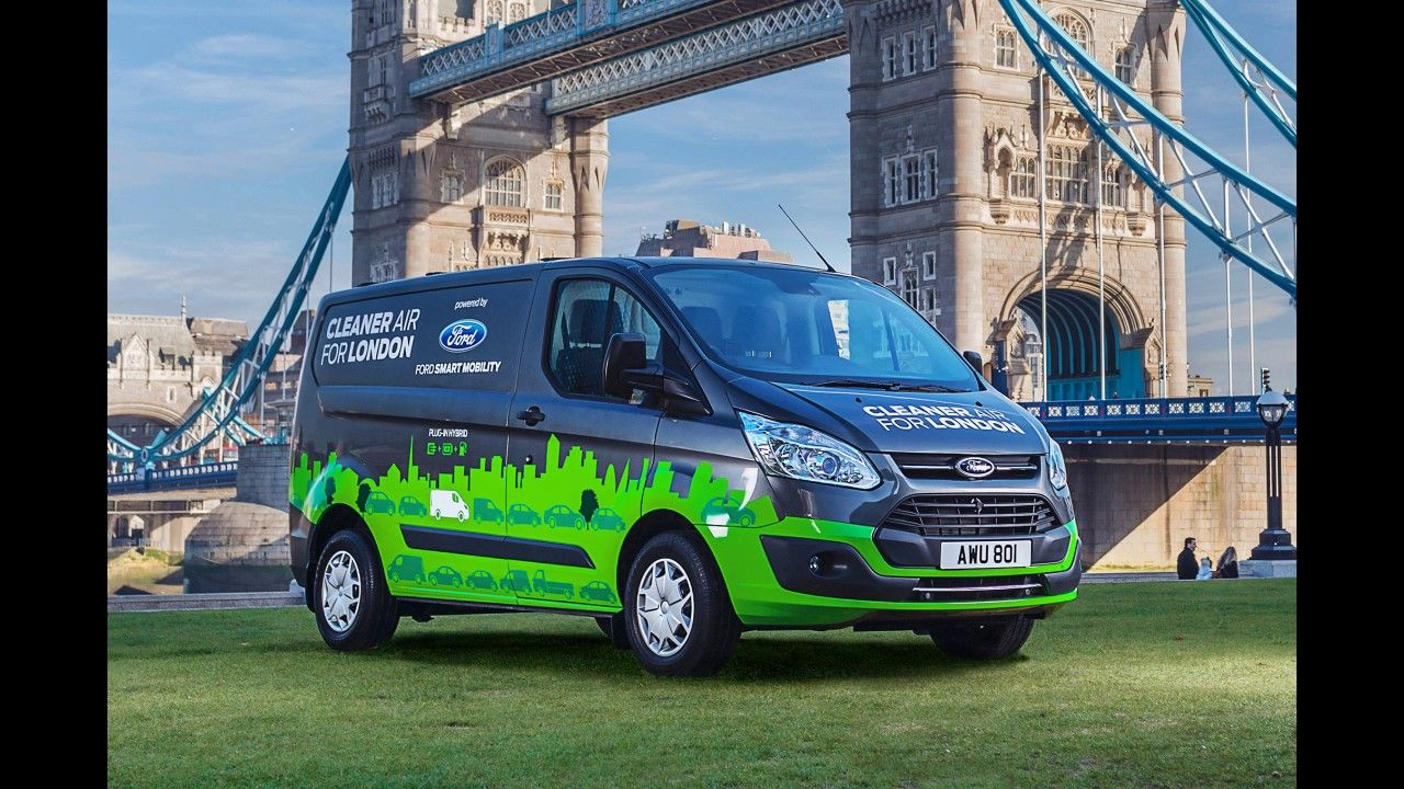 London Trials Ford S New Plug In Hybrid Vans 2017 Ford Phev Transit Ne Hybrid Car Ford Transit Ford News