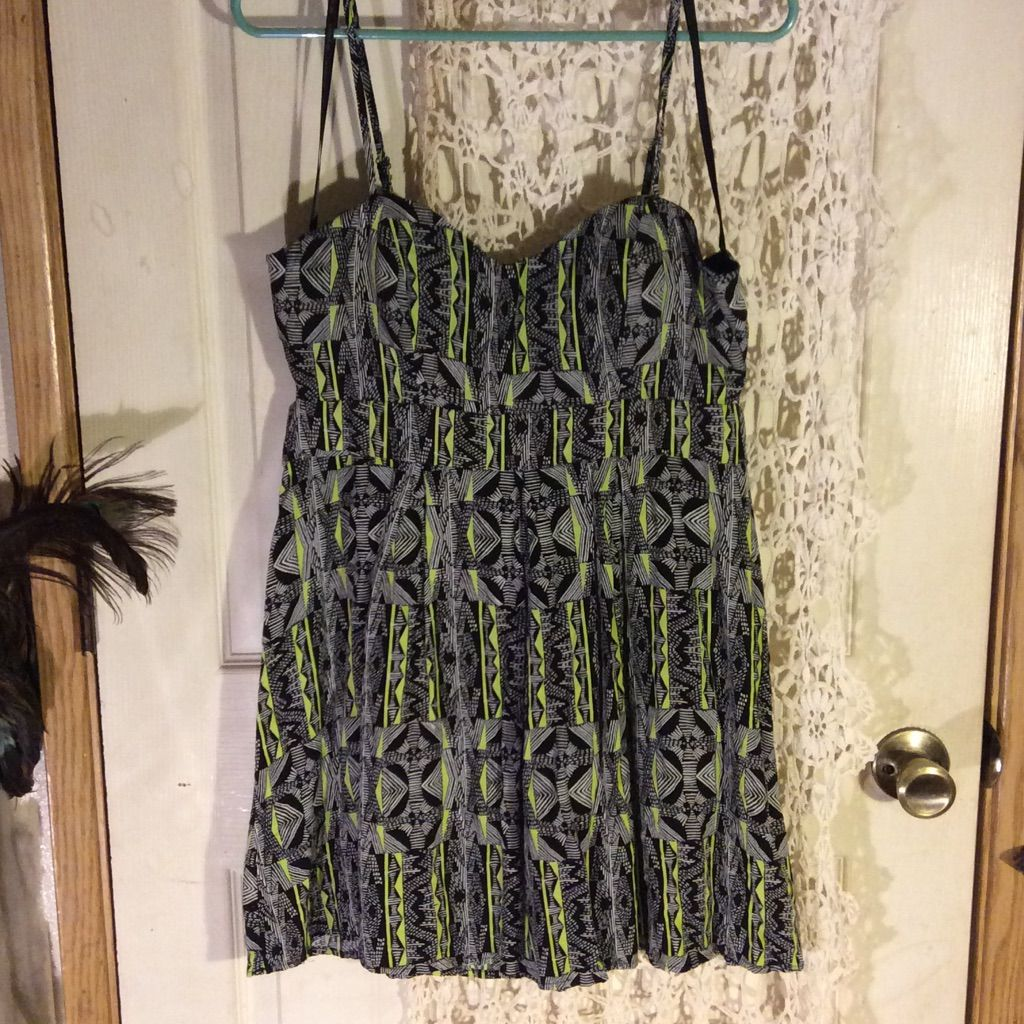 Adorable blackwhite and neon green dress neon green dresses and