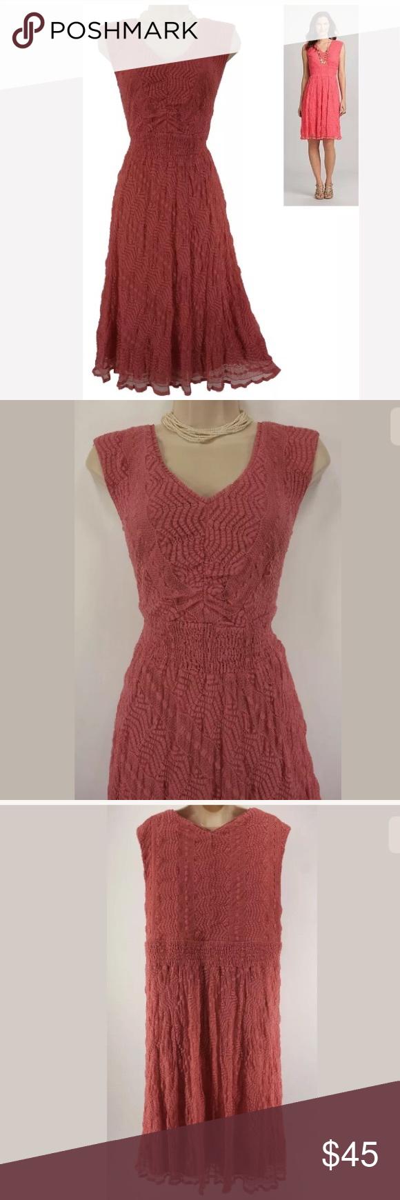 20w 2xgorgeous Coral Lace Dress Summer Plus Size Coral Lace