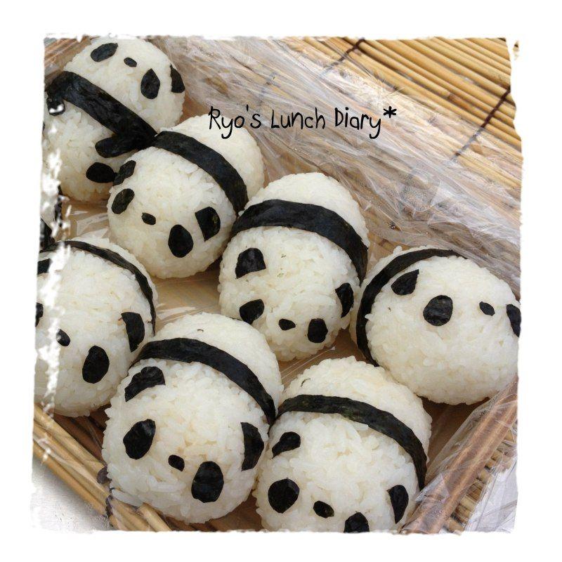 A lot of panda onigiri