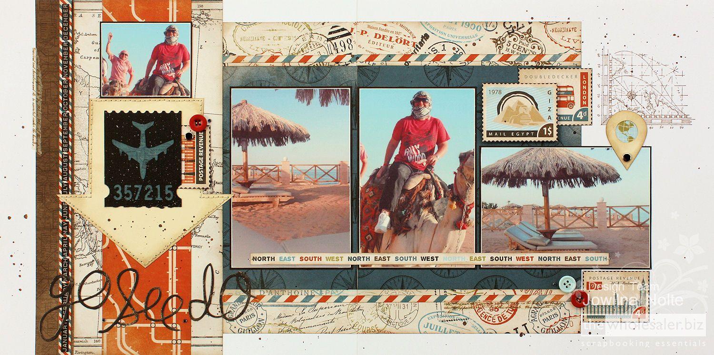 Kaisercraft Wanderlust Double Page Layout | [2015 ...