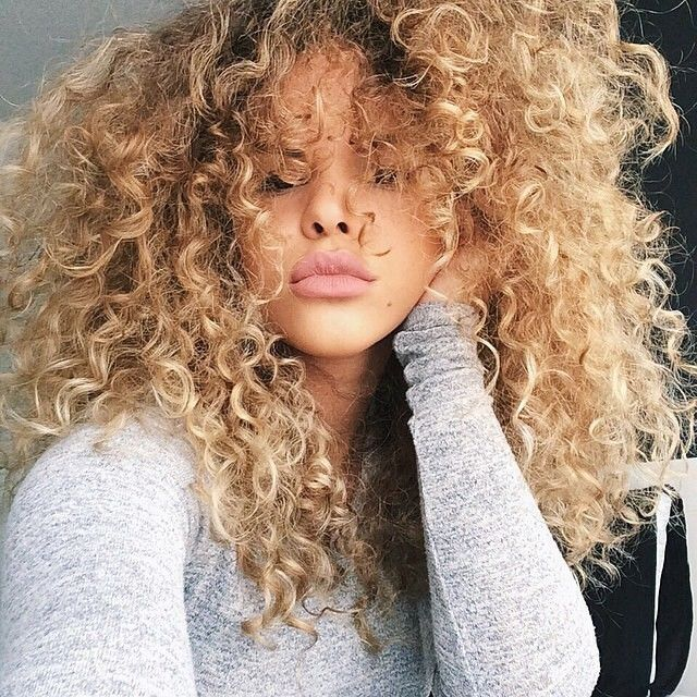 Pity, girls with blonde curly hair