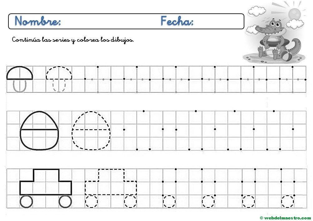 Fichas De Grafomotricidad Para Imprimir 4 Y 5 Anos Web Del Maestro Grafomotricidad Ejercicios De Escritura Materiales Para Preescolar