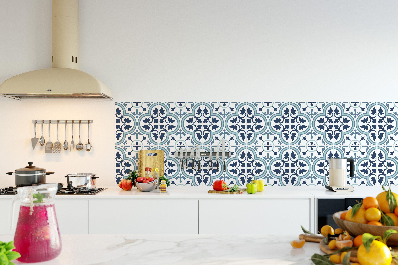 - Kitchen Backsplash Wallpaper - Lagos Pattern - SKU:RT02 (With