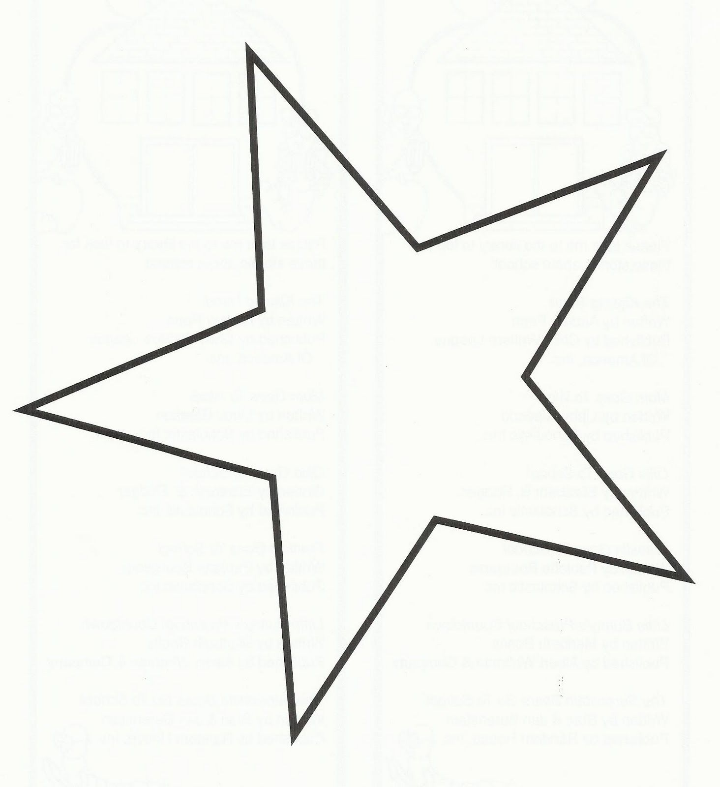 Free Star Quilting Stencils : 5 Point Star Template Printable crafts Pinterest Star template, Barn quilts and Craft