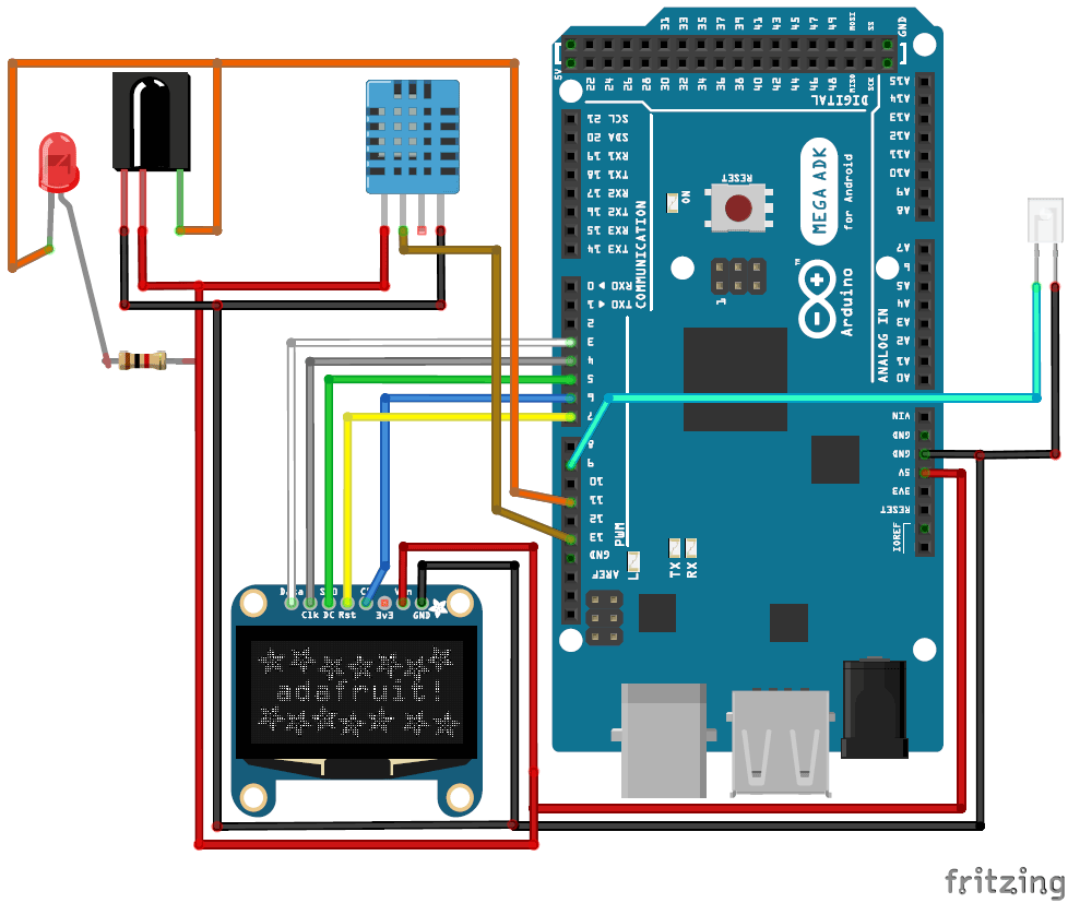 Automatic Ac Temperature Controller Using Arduino Circuit Diagram Electronic Components