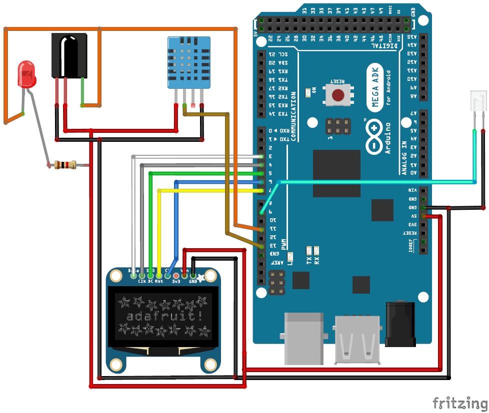 hight resolution of automatic ac temperature controller using arduino circuit diagram
