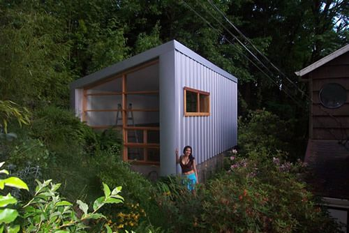 Foot By  Foot House  Sq Ft Built On An Old Greenhouse - Tiny house design portland