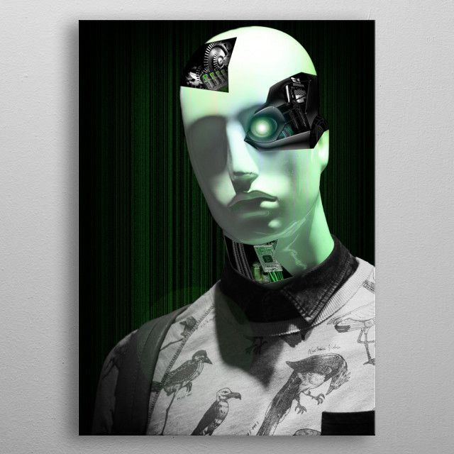 Cyborg mannequin by Ashley Smith | metal posters - Displate | Displate thumbnail