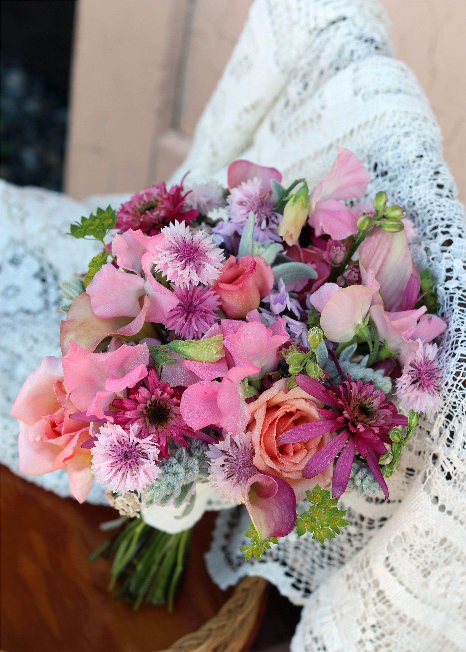 All Pink Garden Flower Brides Bouquet. Mid to late July. The first ...