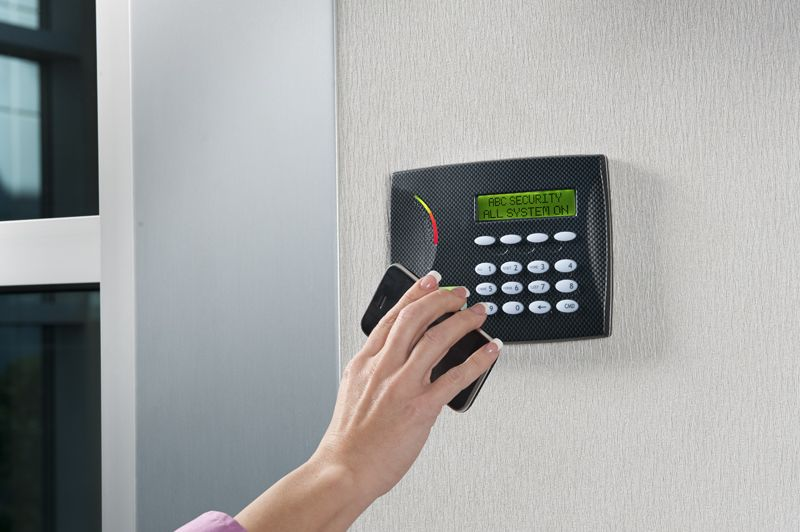 Disarming the system with a prox patch. Access control