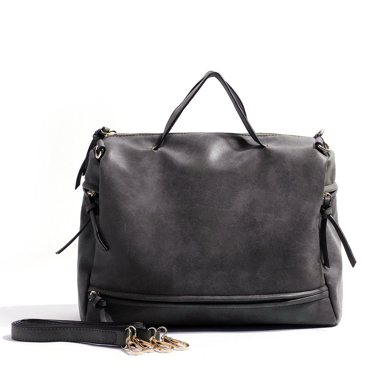 0e80445d173d Dark Grey Nubuck Leather Handbag   Burberry handbags in 2018 ...