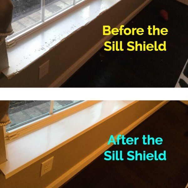 Sill Shield Window Sill Protector In Clear Or White Protects Against Dog Scratching And Impact Window Sill Plastic Window Sill Window Protection