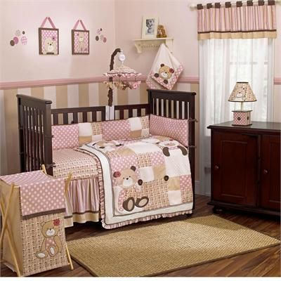 Baby Bed Pink Crib Bedding, Purple Elephant Mini Crib Bedding
