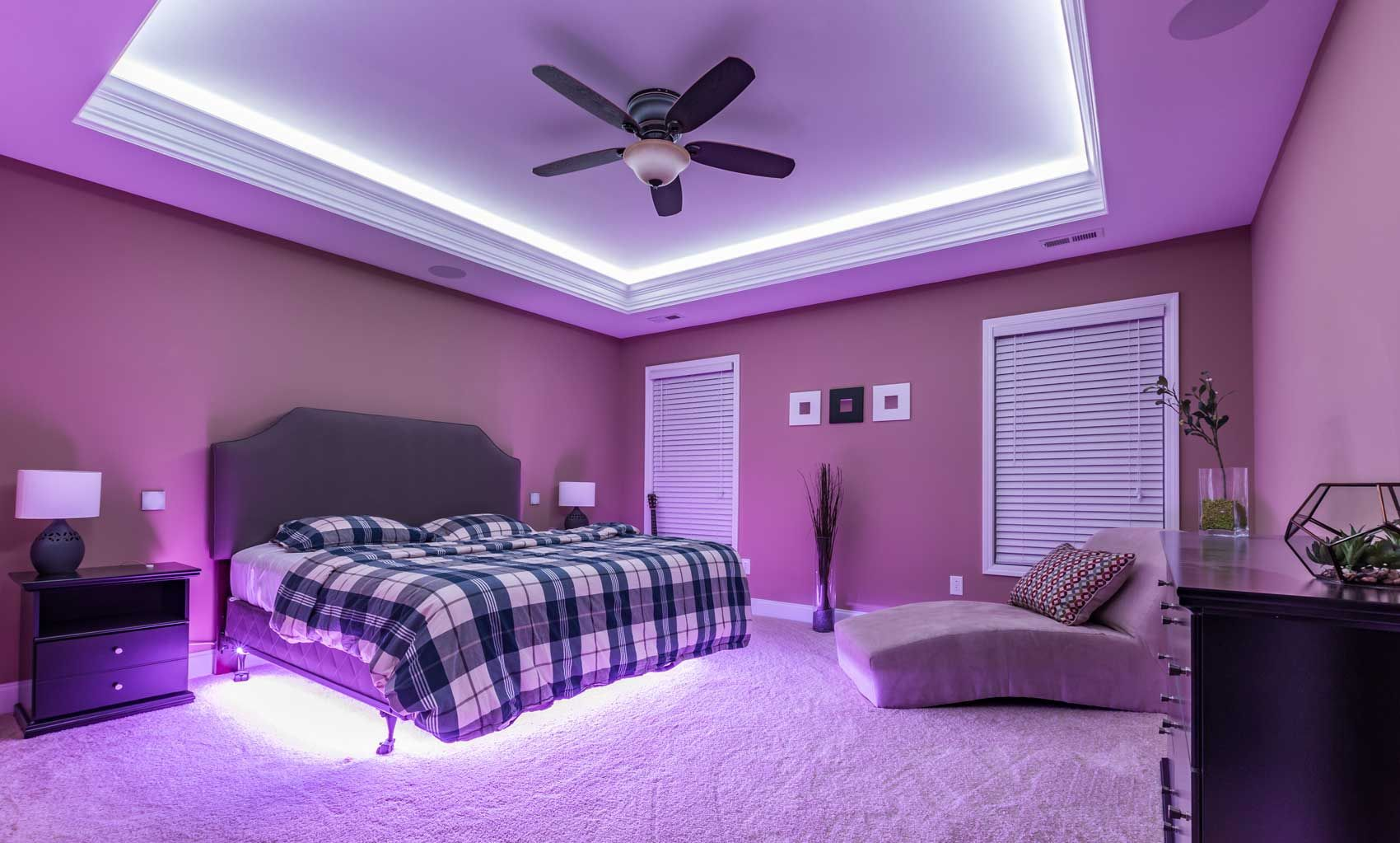 Ambient Lighting Utilize Led Lights To Set The Mood Of Your Smart Home Led Lighting Bedroom Led Strip Lighting Bedroom Lighting