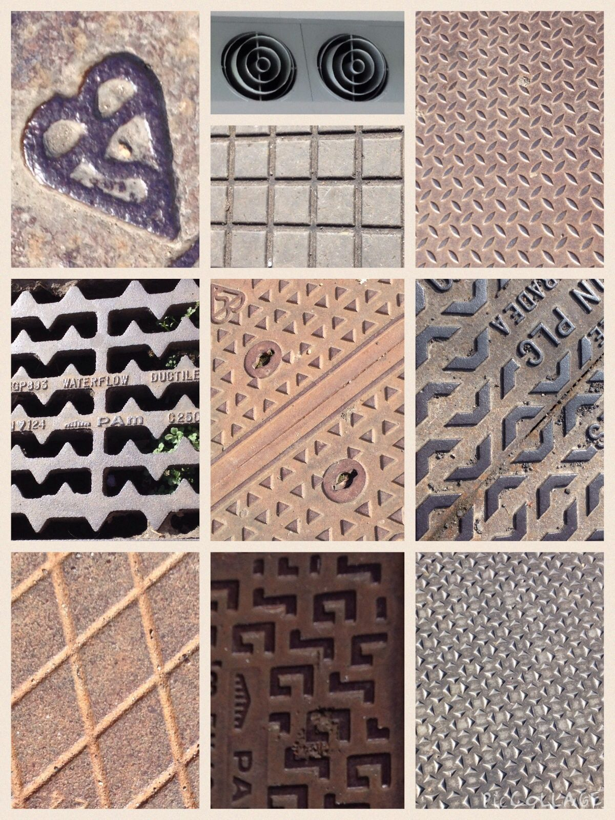 Drain covers inspired me for pattern repeats while out shopping
