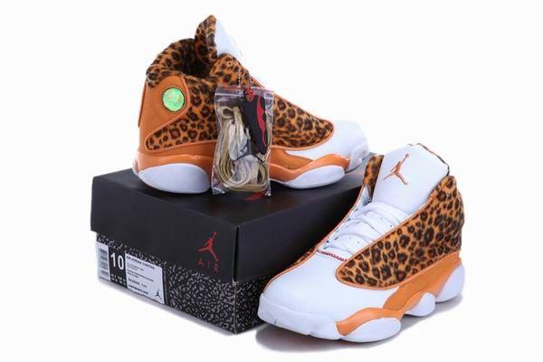 fcdb7d7a55f3 Cheetah Print Air Jordan 13 Leopard Orange White New Jordans Shoes 2013   Orange  Womens  Sneakers
