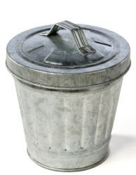 Small Galvanized Trash Can Baskets Buckets Boxes Home